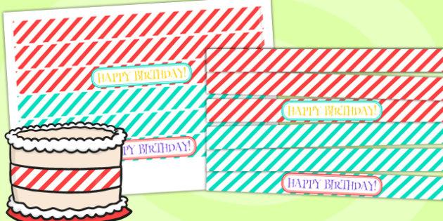 Animal Themed Birthday Party Cake Ribbon - birthdays, parties