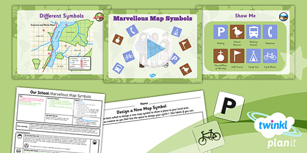 Geography: Our School: Marvellous Map Symbols Year 1 Lesson Pack 6