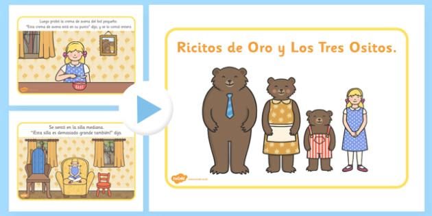 Presentación de Ricitos de oro - cuentos, tradicion, tres osos, crema de avena