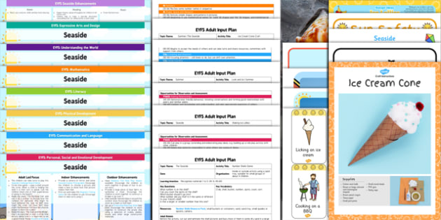 EYFS Seaside Themed Lesson Plan Enhancement Ideas and Resources Pack