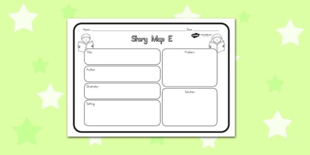 Story Map E Worksheet - australia, story, map, worksheet, e