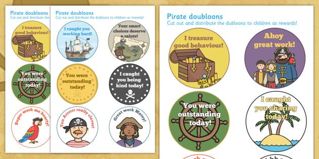 Pirate Reward Dubloons - pirates, rewards, award, dubloons