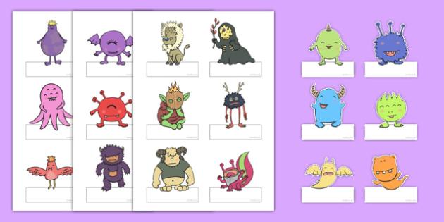 Editable Monster Labels - monster, labels, editable labels, edit