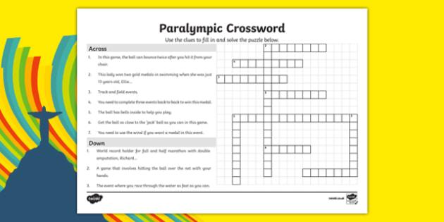 Paralympics Crossword
