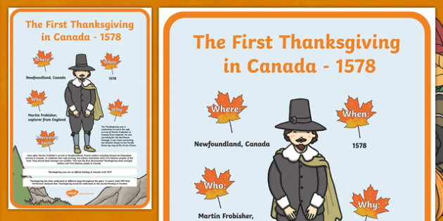 All About The First Thanksgiving in Canada Poster A2