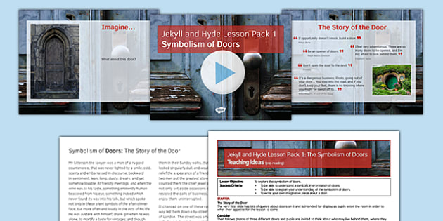 Jekyll and Hyde Lesson Pack 1: Symbolism of Doors (Pre-Reading) - pack, jekyll and hyde, symbolism of doors