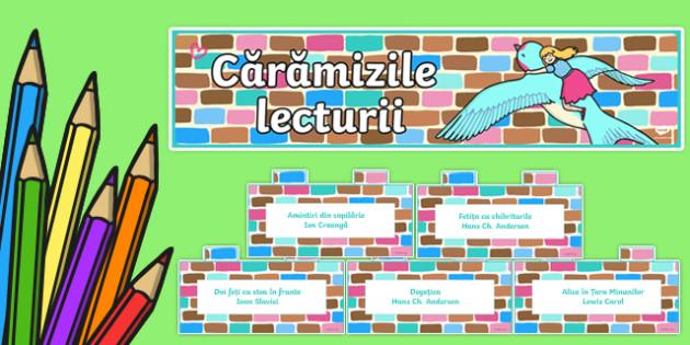 Pachet Căramizile lecturii - lectură, citire, afișare, decorul clase, decor, noul an scoalr
