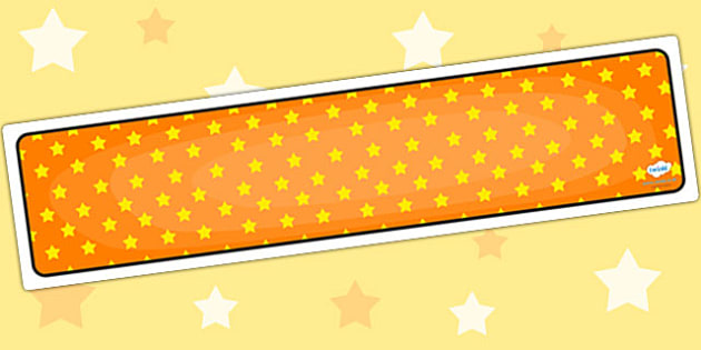 Orange with Yellow Stars Editable Display Banner - orange
