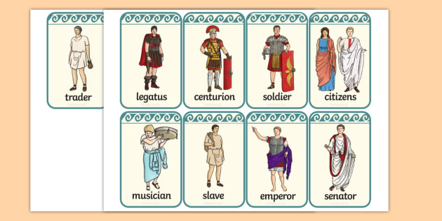 Roman People Flashcards - flashcards, cards, roman, people