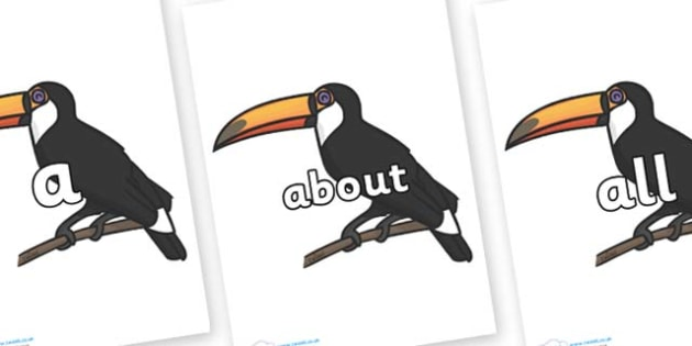 100 High Frequency Words on Toucan - High frequency words, hfw, DfES Letters and Sounds, Letters and Sounds, display words