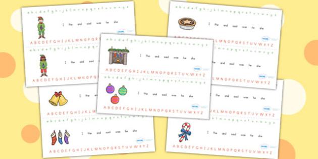 Australia Christmas Alphabet Strips - christmas, alphabet, A-Z, xmas, aids