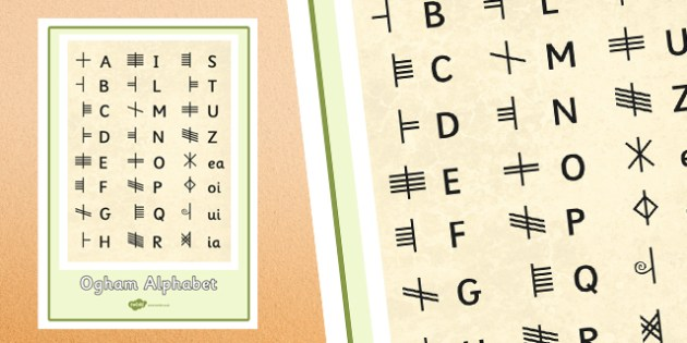 The Irish Language Decline and Revival Ogham Poster - Irish language, decline and revival, conradh na gaeilge, gaeltacht, history, ogham, display poster