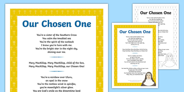 Mary MacKillop  Our Chosen One Song Lyrics-Australia