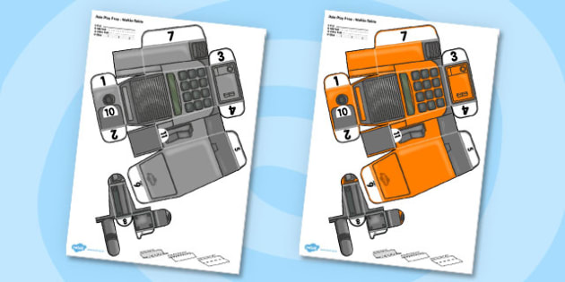 Role Play Printable Prop Walkie Talkie - role-play, printable, walkie talkie