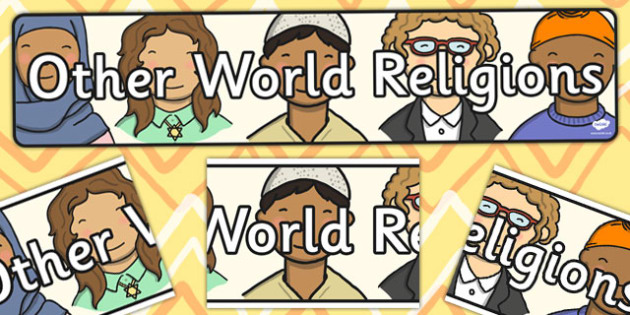 Other World Religions Display Banner CfE - display, banner, cfe