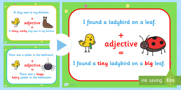 Minibeasts Adjectives Display PowerPoint - powerpoint, power point, interactive, minibeast adjectives, minibeast powerpoint, minibeasts adjectives powerpoint, powerpoint presentation, presentation, slide show, slides, discussion aid, discussion point