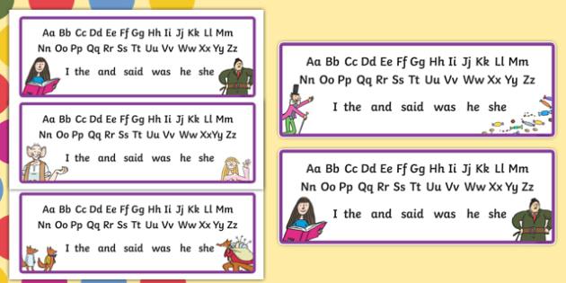 Roald Dahl Alphabet Strips - roald dahl, alphabet strips, roald dahl alphabet, A-Z, roald dahl A-Z, roald dahl themed alphabet strips