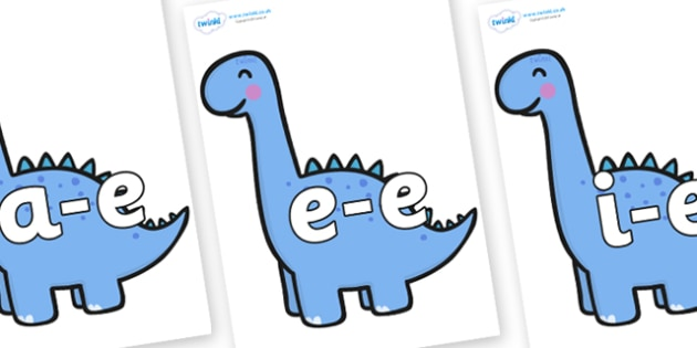Modifying E Letters on Diplodocus Dinosaurs - Modifying E, letters, modify, Phase 5, Phase five, alternative spellings for phonemes, DfES letters and Sounds