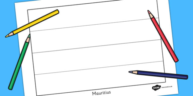Mauritius Flag Colouring Sheet - countries, country, geography