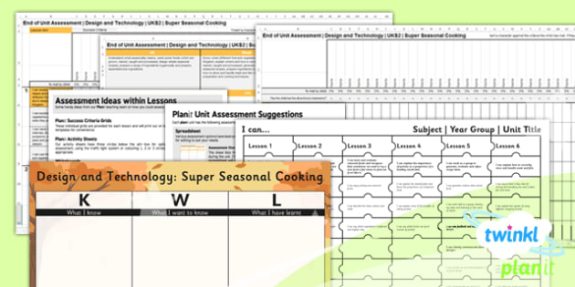 D&T: Super Seasonal Cooking UKS2 Unit Assessment Pack