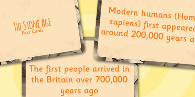 Amazing Stone Age Display Fact Cards - stone age, history