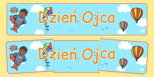 Banner na gazetkę Dzień Ojca po polsku