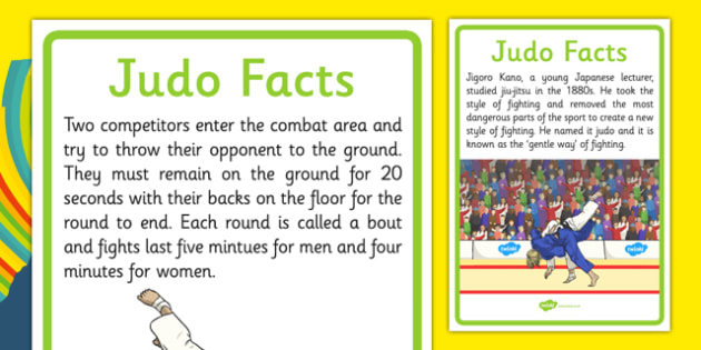 Rio 2016 Olympics Judo Display Facts - rio 2016, 2016 olympics, rio olympics, judo, display facts
