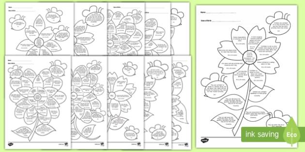 EYFS Reception (FS2) Assessment Flowers