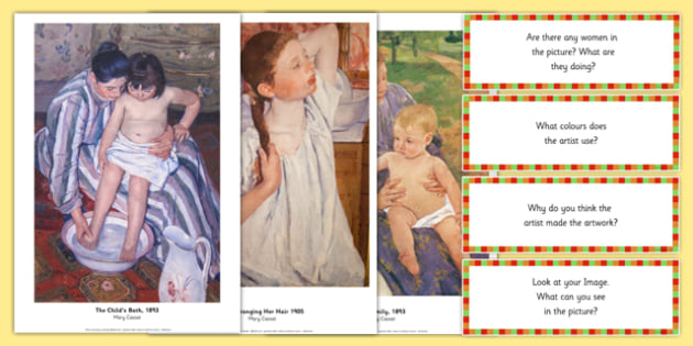 Mary Cassatt Photopack and Prompt Questions - mary cassatt, photo pack, prompt, questions
