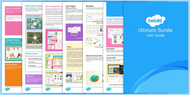 Ultimate Bundle User Guide - twinkl, user guide, ultimate, ultimate bundle, free user guide, guide, user