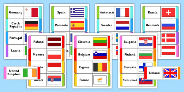 European Flags Loops Cards - european, flags, loops, cards, loop cards