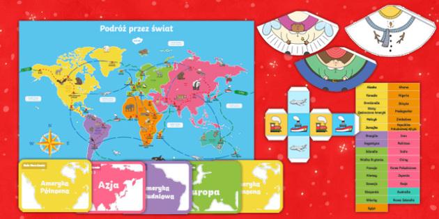 Gra planszowa Podróż przez świat Boże Narodzenie