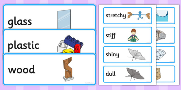 Everyday Materials Word Cards - everyday, materials, word cards