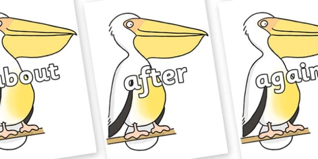 KS1 Keywords on Pelican to Support Teaching on The Great Pet Sale - KS1, CLL, Communication language and literacy, Display, Key words, high frequency words, foundation stage literacy, DfES Letters and Sounds, Letters and Sounds, spelling