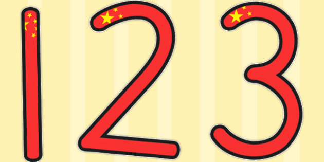 Chinese Flag Display Numbers - australia, display, numbers, flag
