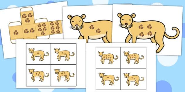 Leopard Spots Lotto Game - leopard, spots, lotto, game, activity