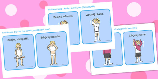 Getting Undressed Cards Girls Polish - polish, undressed, cards, girls
