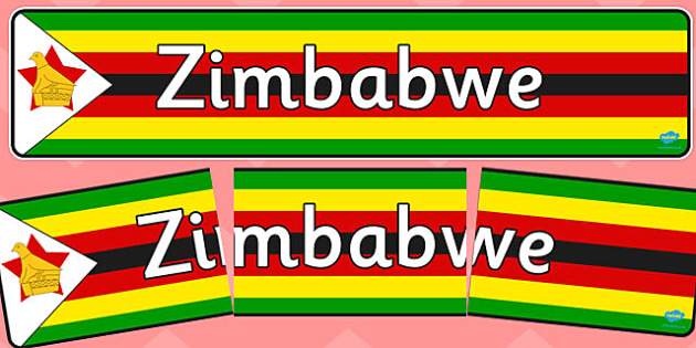 Zimbabwe Display Banner - africa, geography, human, maps, flags, countries, information, header,