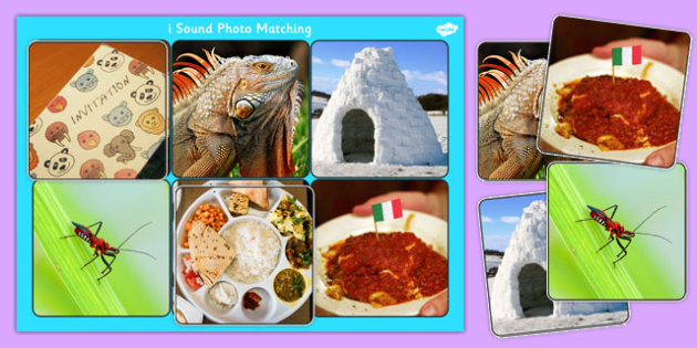 Initial I Sound Photo Matching Board and Cards - sounds, phonics