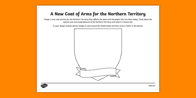 Northern Territory Coat of Arms Design Sheet - australia, Northern Territory, NT, emblem, coat of arms, design, drawing, art