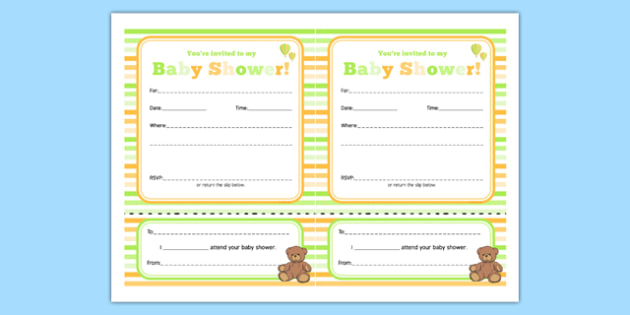 Baby Shower Invitation - Baby shower, invitation, baby, party