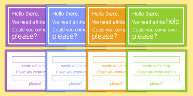 We Need Some Help Cards For Adults - we need some help, cards, adults, teachers, teaching assistant, help