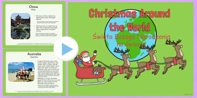 Christmas Around the World PowerPoint Polish Translation - polish, christmas, around the world