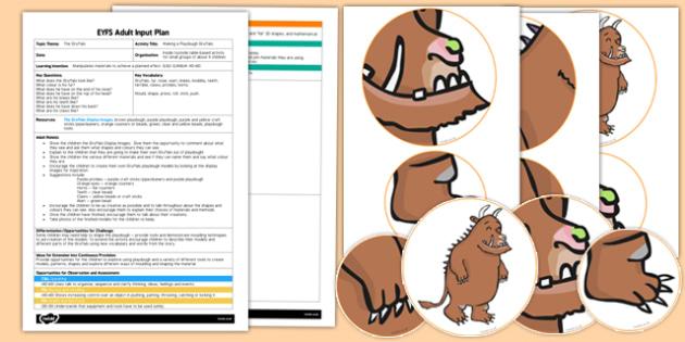 Making a Playdough Gruffalo to Support Teaching on The Gruffalo EYFS Adult Input and Resource Pack - playdough, gruffalo, support