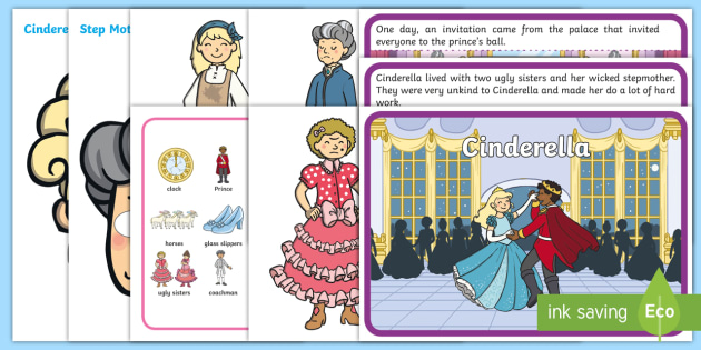Cinderella Story Sack - story sack, story books, story book sack, stories, story telling, childrens story books, traditional tales