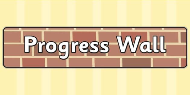 Progress Wall Display Banner - progression wall, progress, banner