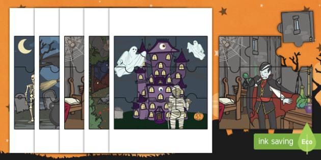 Halloween Jigsaw Activity Pack