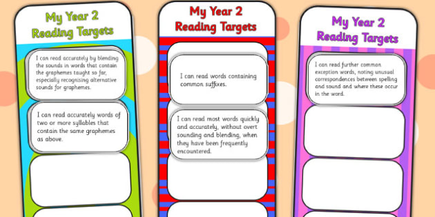 2014 Curriculum Y2 English Reading Assessment Bookmarks Cut Outs