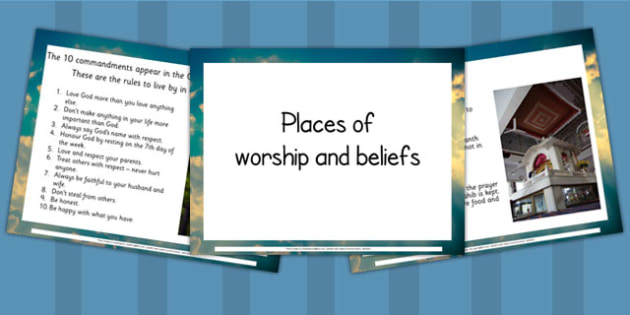 Place of Worship and Beliefs PowerPoint - religion, RE, religious
