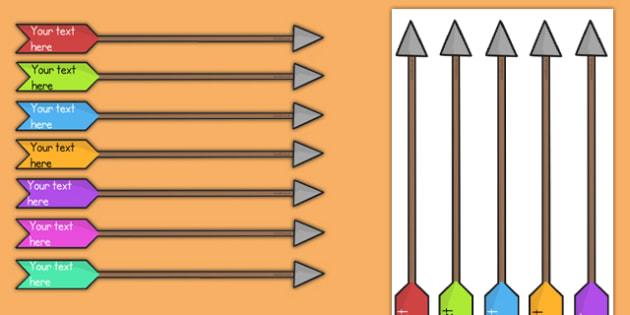 Editable Target Arrows - editable, arrow, targets, editable arrow, edit